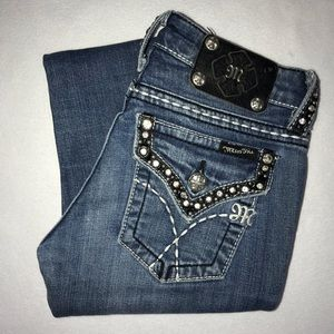 Miss Me Embellished Studded Bootcut Jeans 25 33